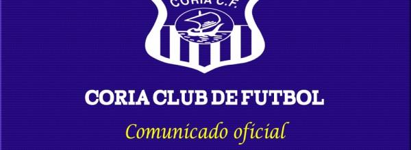 Comunicado Oficial del Coria CF