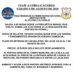 Viaja a Coria de Cáceres con el Coria C.F.